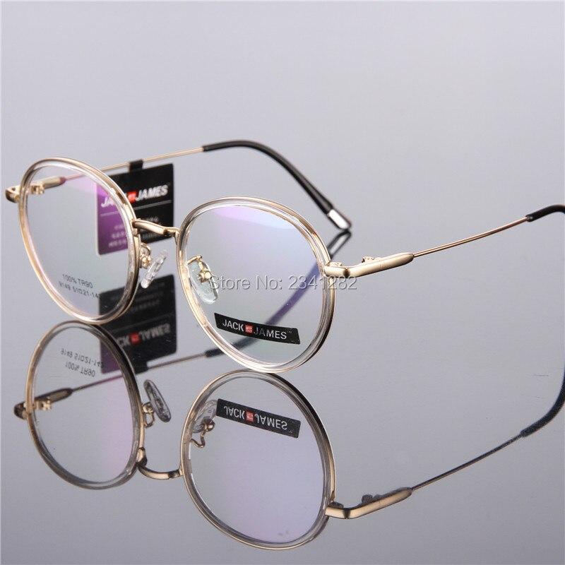 Runde gerahmte Brille rahmen TR90 Gehobenen klar gläser Optische ...