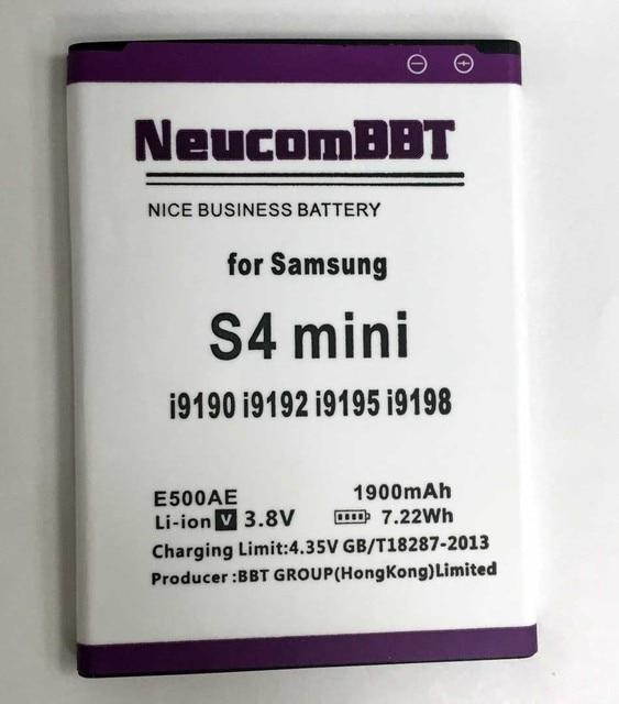 B500AE S4 Mini Battery For Samsung  S4Mini GT-i9190 GT-i9192 GT-i9195 i9198 SGH-I257 SHV-E370 B500BU B500BE  9192 i9198 i9195