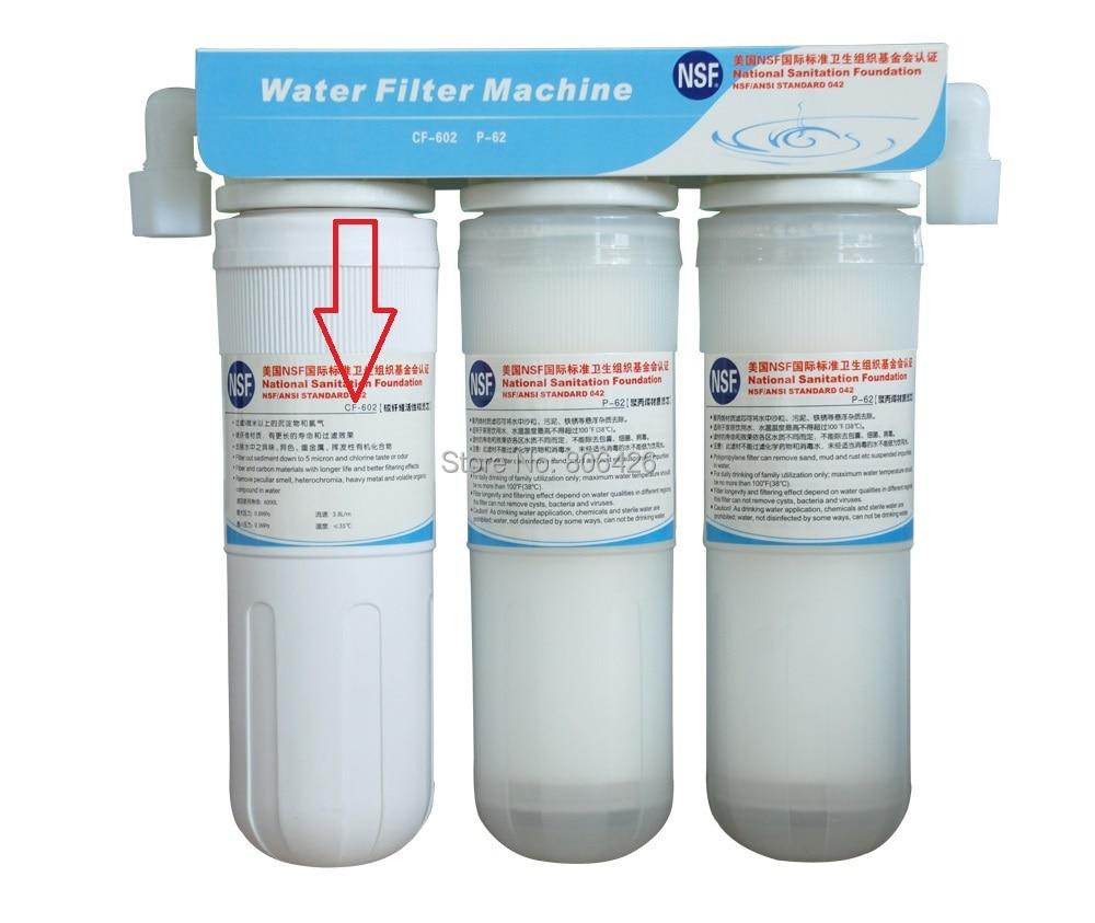 NSF стандартный фильтр с активированным углем замена картриджа для ионизатор (QWI-005/007/009/011) системы предварительной очистки