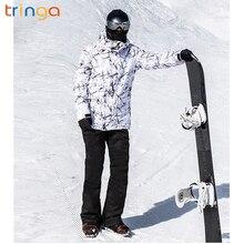 Уличные Зимние новые мужские большие размеры лыжный костюм шпон двойной доски лыжные брюки мужские ветронепроницаемая Водонепроницаемая теплая куртка спортивный костюм