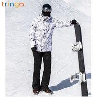 Уличные Зимние новые мужские большие размеры лыжный костюм, двойной платы лыжный Штаны Мужская ветрозащитная Водонепроницаемая теплая кур