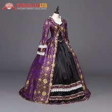 High Quality Gothic Princess Renaissance Colonial Period Dress Ball Gown Reenactment Theater Clothing