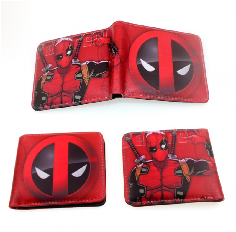 все цены на New Arrival Unisex Wallet Deadpool Catoon Wallets Anime Sailor Moon Purse Card Money Bags carteira Gift Folded Short Wallet