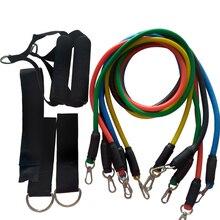 YOUGLE Bandas de resistencia para entrenamiento, 11 unidades/juego de tubos para ejercicio, tubos para Pilates, expansores de cuerda para entrenamiento