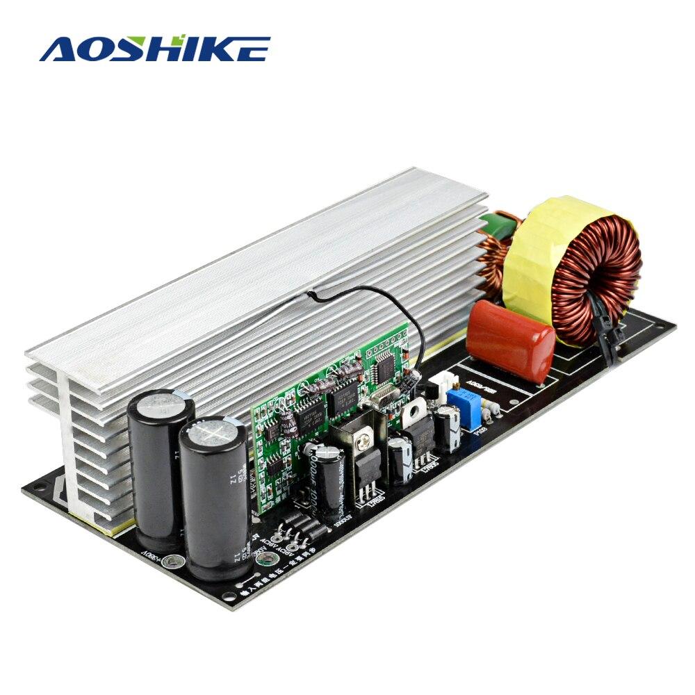 Aoshike 2000 Вт модифицированный синус волны чистая синусоида преобразователь закончил доска с радиаторами DC380V/AC16V чтобы AC220V
