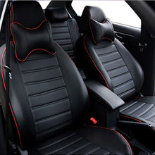 Carnong Car seat cover leather for Honda Civic hybrid 5seat 5 headrest rear seat can not be splited custom proper fit cover