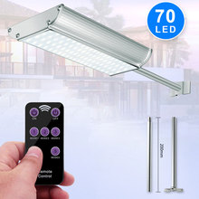 70LED Radar Sensor Solar Light Motion Sensor Outdoor Street Light With 5 Modes Remote Controller Waterproof IP65 For Garden @