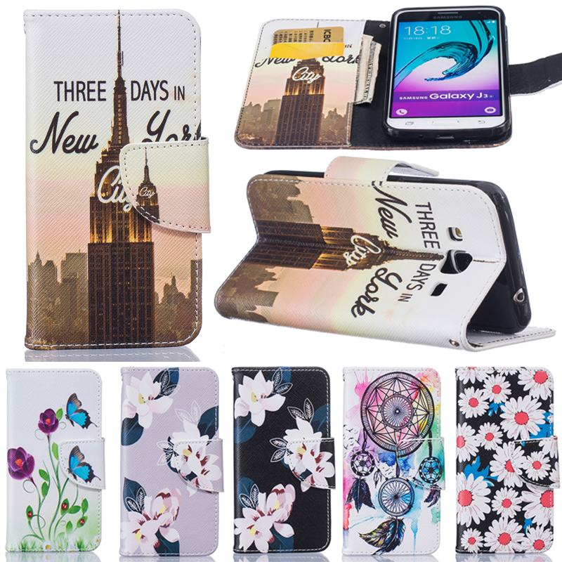 for coque samsung galaxy j3 2016 case flip leather wallet magnet card slot cover cases for