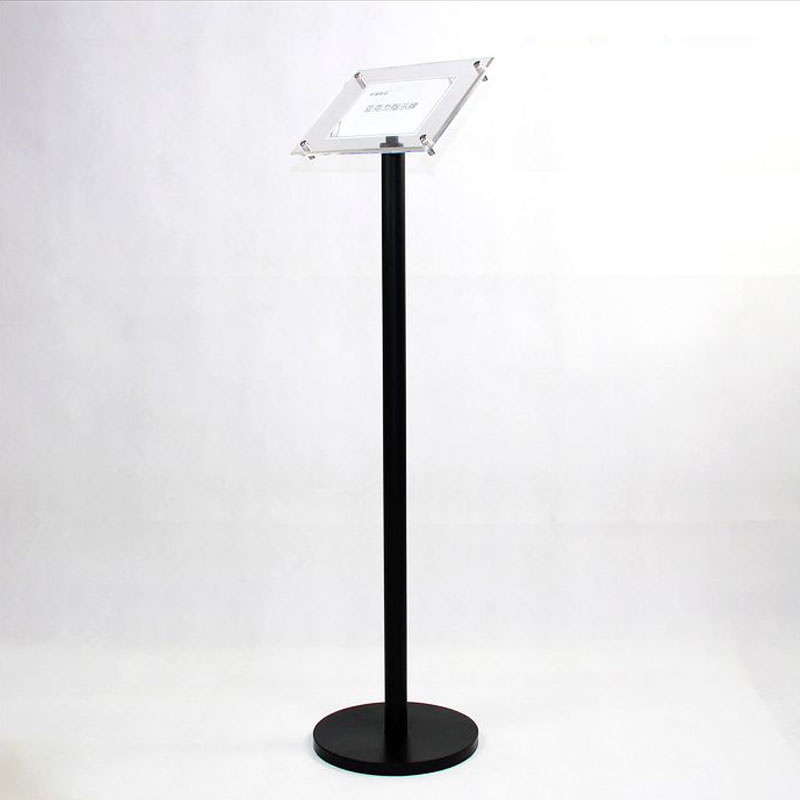 A3 Floor Poster Pedestal Sign Display Holder Floor Stand With Clear Acrylic Poster Frames Floor Signage Display Rack Sign Stand