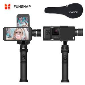 Image 2 - Funsnap Capture cardán para Smartphone de 3 ejes, estabilizador Gopro para iPhone Xs Max XR Piexl Gopro 7 6 5 Y EKEN H9