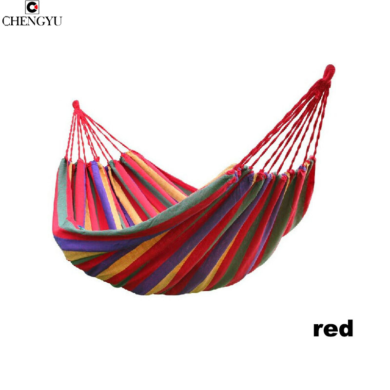 single or Double hammock canvas Thicken camping indoor and outdoor Swing go to bed colorful Dirt Easy to fold carry go to bed blue