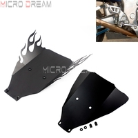 Motorbike Aluminum Lower Belly Pan Flame Black Under Wing Cowl for Suzuki GSX1300R GSX 1300R Hayabusa 1999 2007