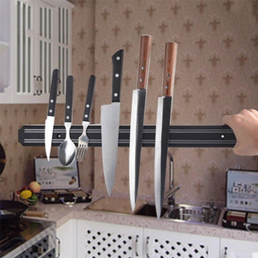 330x34x15mm Magnetic Knife Holder Wall Mount Black ABS Placstic Block Magnet Knife Holder For Metal Knife