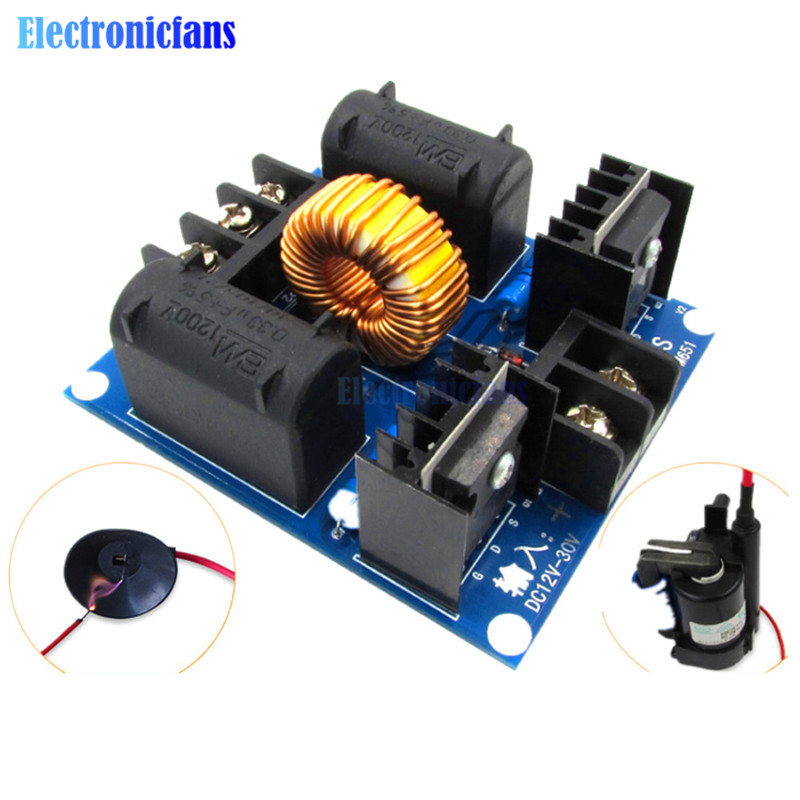 1000W 20A ZVS Induction Heating Driver Board High Voltage Generator Circuit PCB <font><b>DC</b></font> <font><b>12</b></font>-<font><b>30V</b></font> Induction Heating Board Module image