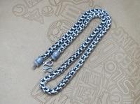 Thai argento 925 gioielli vintage old dragon head Collana prepotente modelli maschili vendite dirette della fabbrica 8 CM greggio