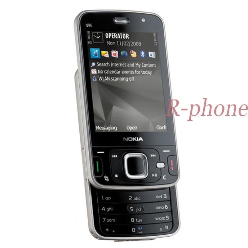 Original Nokia N96 Mobile Phone Unlocked 3G GSM GPS WIFI 5MP16GB Smartphone N96 & One year warranty mobile phone