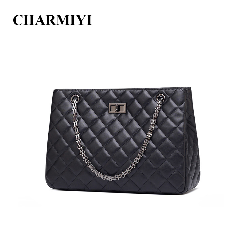 CHARMIYI 2018 New Luxury Leather women Shoulder bag Lady Famous Brand Designer Fashion Tote women handbag Chain Messenger bags new 2017 fashion leather lady patchwork natural sheepskin shoulder bag famous brand women s bag casual bag