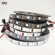 5m/roll DC5V WS2801 Dream Color 12mm 5050 RGB LED Strip Addressable 32LED/M Arduino development ambilight TV white or black PCB