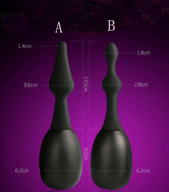 1 шт. анус влагалище чище клизма анальный очистки анальный плагин хвост butt plug enemator prostata массаж гей секс-игрушки для женщин мужчины