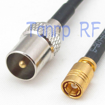 10pcs 6in TV male plug to SMB female jack RF connector adapter 15CM Pigtail coaxial jumper RG174 extension cord cable