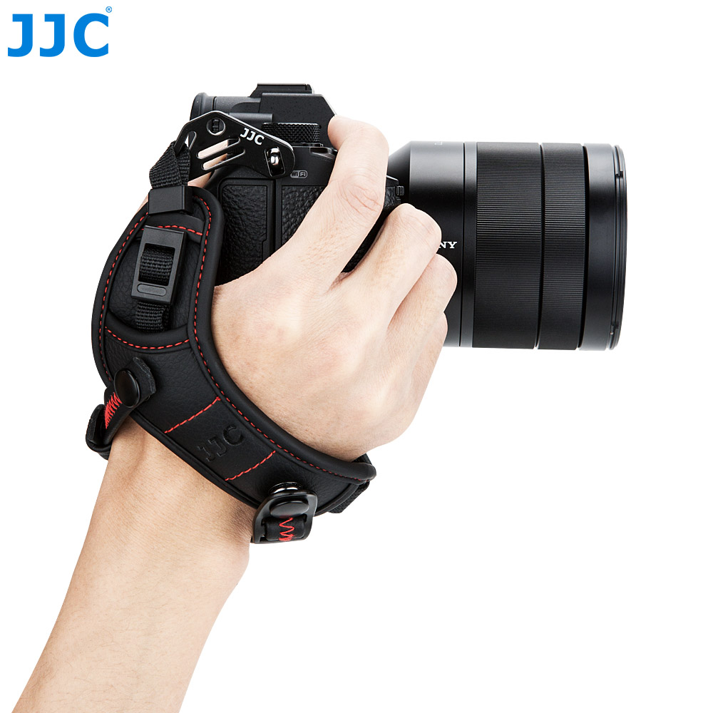 JJC HS ML1M Adjustable Hand Strap for Canon/Nikon/Sony/Fujifilm/Olympus/Pentax/Panasonic Holds Mirrorless Cameras With Lens