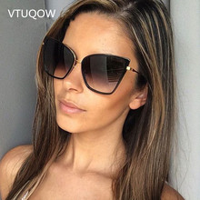 High Quality Cat Eye Sunglasses Women Brand Designer Retro Tinted Sun Glasses Women Female Lady Lunettes de soleil UV400 2019 цена 2017