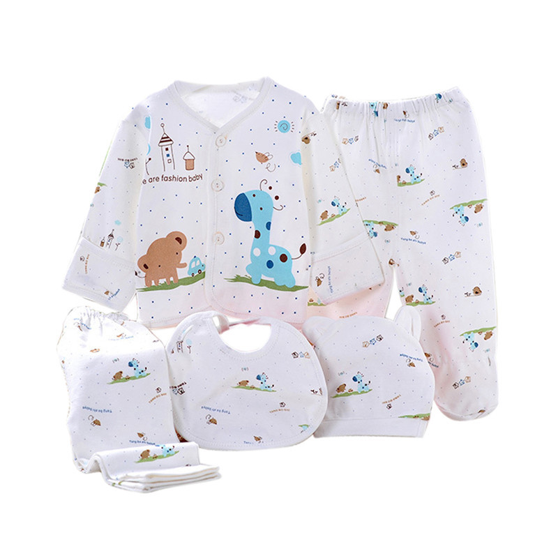 0-3M Baby Clothes Set Newborn Boys Girls Cotton Underwear Clothes Cartoon Animal Print Shirt and Pants 5 Pcs Baby Clothing Sets newborn baby clothing sets baby girls boys clothes hot new brand baby gift infant cotton cartoon underwear 5pcs set 7pcs set