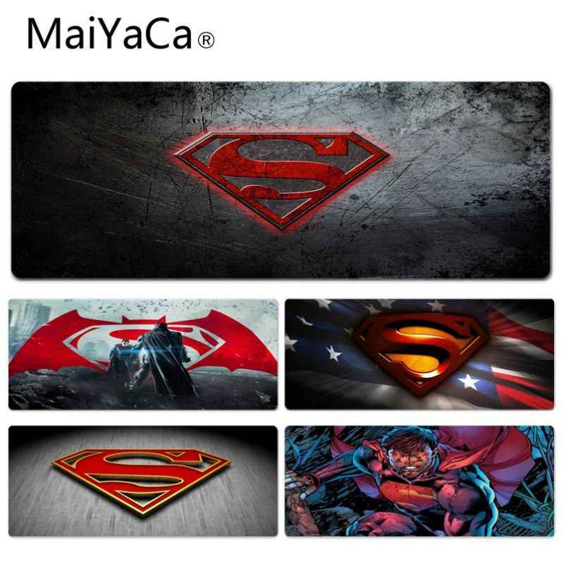 Superman Logo MaiYaCa Comfort Tapete de Rato Gaming Lockedge Retângulo Gaming Mousepad de Borracha Natural Mouse Pad