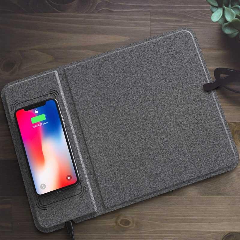 Jeu multifonction tapis de souris Ultra-mince avec chargeur sans fil 5/10 W pour téléphone - 4
