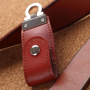 Fashion Leather Memoria Usb Flash Drive 3.0 Key Chain Pendrives 8gb 32gb Memory Stick 16gb Gift Usb Creativo Pendrive 64GB 128gb