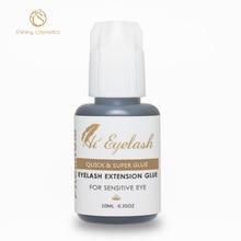 10ml Hieyelash Hot Selling  1second Eyelash Extension Glue Professional Made In Korea Low Odor