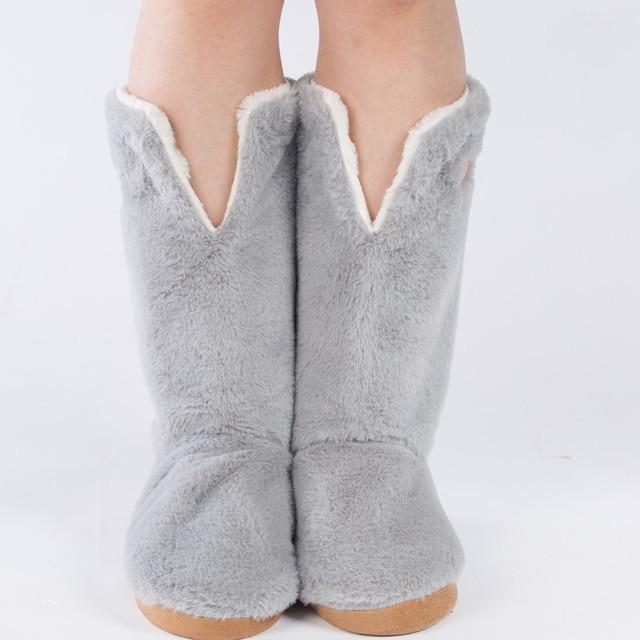 Лучшее Качество Теплый Дом Обуви Этаж Мягкой Подошвой Сапоги Супер нубук Кожа Крытый Дом Обуви 3D Длинные Носки Многие Стиль На продажа