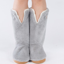 Best Quality Warm Home Shoes Floor Soft Sole Long Boots Super Nubuck Leather Indoor House Shoes 3D Long Socks Many Style On Sale