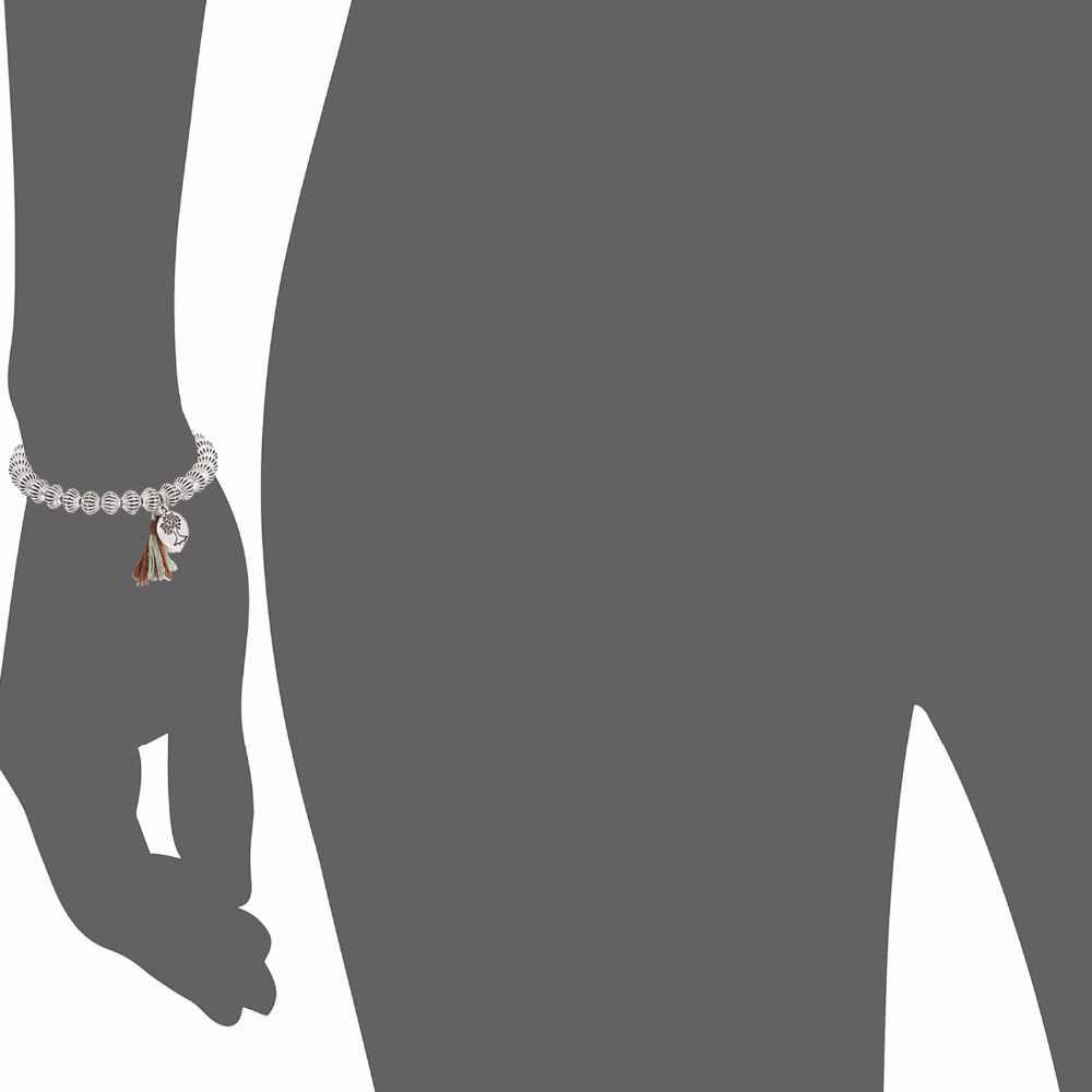 EManco Classico Dell'annata Della Nappa Braccialetti infilati e Braccialetti per le Donne Della Lega di Perline Lanterna Argento Placcato Piccolo Pendenti con gemme e perle Gioielli