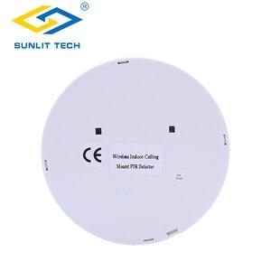 Image 4 - 1/2/3/4 stks Draadloze Plafond pir sensor 360 Graden Detectie Plafond Montage 433 MHz Indoor WIFI Motion Detector Voor Alarmsysteem