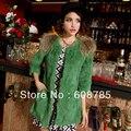 Autumn Winter New Women Fashion Slim half sleeve Long Faux raccoon Fur Jacket Coat Fur Overcoat Outerwear Freeshipping B1223