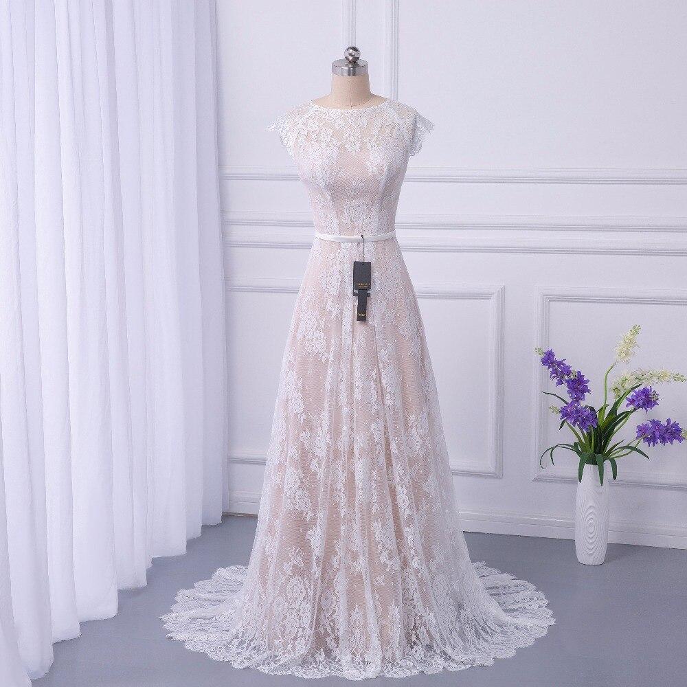 2018 Da Sposa Boho Abito Da Sposa In Pizzo Abiti Da Sposa Corte Dei Treni abiti da noiva robe de mariage lungo Robe de Maria casamento
