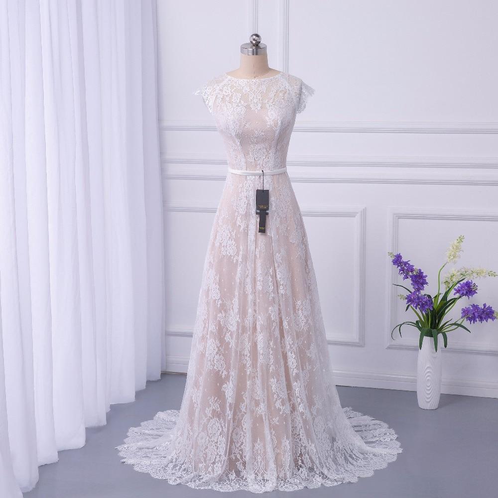 2018 de Mariée Boho robe de Mariée En Dentelle Robes de Mariée Tribunal Train robes de noiva Robe de mariage longue robe de Maria casamento