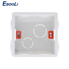 EsooLi 3 Colors Adjustable Mounting Box Internal Cassette 86mm*83mm*50mm For 86 Type Touch Switch and Socket Wiring Back Box(China)