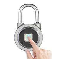 Newest Smart Keyless Fingerprint Lock APP Button Password Unlock Waterproof Anti Theft Padlock Door Lock for Android iOS System