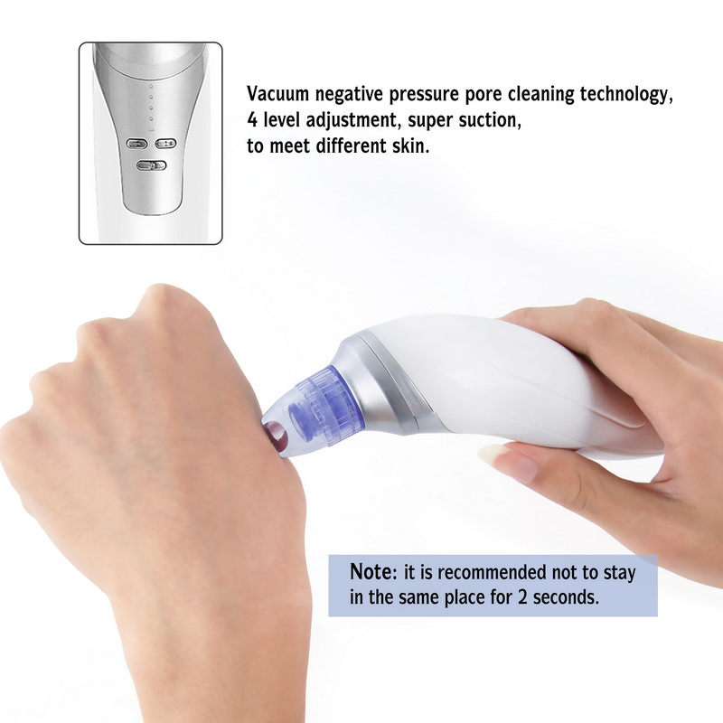 Beauty Star Vacuum Blackhead Remover Facial Vacuum Suction Pore Cleaner Pimple Comedo Removal Microdermabrasion Face Cleaning