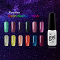 Verntion Glitter Candy Color UV Nail Gel Art French Orange Gel Polish UV Lacquer Soak Off UV Led Neon Nail Gel Polish