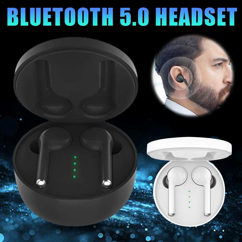 New TWS Wireless Bluetooth 5.0 Earbuds Stereo HiFi Sound Headset Handsfree Call Durable Earphones With Built in HD Microphone-in Bluetooth Earphones & Headphones from Consumer Electronics