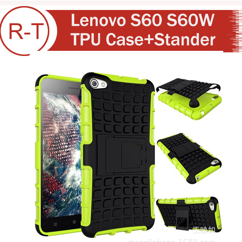 For Lenovo S60 Case Hybrid TPU+PC Protective Case Anti-knock Back Cover For...