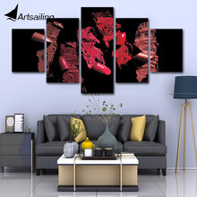 Canvas Print Pictures Wall Art Framework Women beauty 5 Pieces Liptips Beauty Salon Painting Poster Modular Home Decor(China)