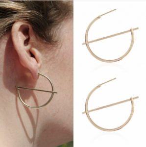 Korean Version Of The 2019 Fashion New Earrings Simple Temperament Exaggerated Geometry Ladies Earrings Manufacturers Wholesale