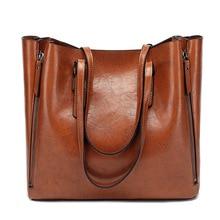 High capacity Shoulder Bags for 2021 luxury handbags women bags designer Oil wax Zipper Leather Bag sac a main bolsa feminina