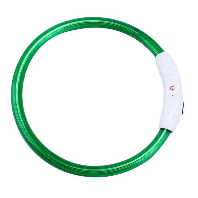 Halsband Oplaadbare USB Waterdichte LED Knipperlicht Band Veiligheid ...