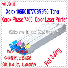 Cartridges For Xerox Phase 7400 Printer,Use For Xerox 106R01077 106R010778/79/80 Toner Refill,For Xerox 7400 Toner Laser Printer