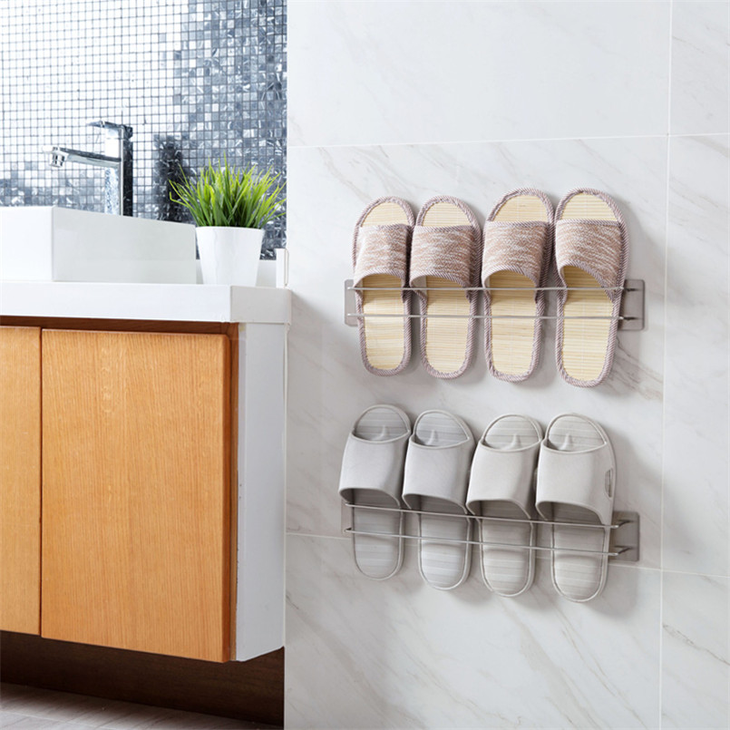 Wall Mounted Shoe Storage.Us 9 68 45 Off Wall Mounted Shoe Rack Shelf Stand Holder Simple Home Shoes Storage Racks Shoe Organizer Design Space Save Rangement Chaussure In